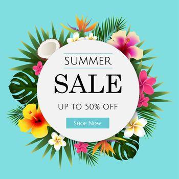 Summer Sale Tropical Banner
