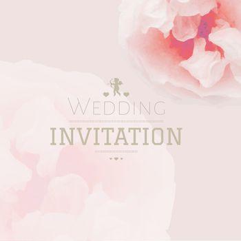 Pink Pastel Wedding Invitation