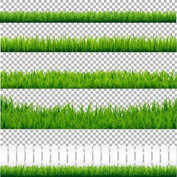 Realistic Green Grass Borders