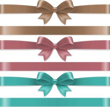 Pastel Color Bows Set