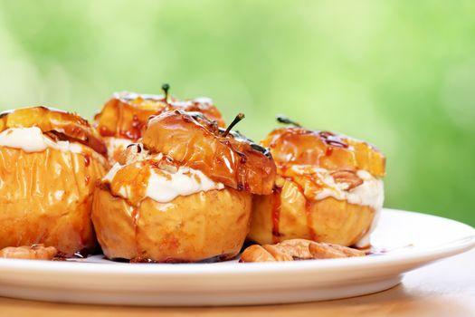 Tasty baked apples
