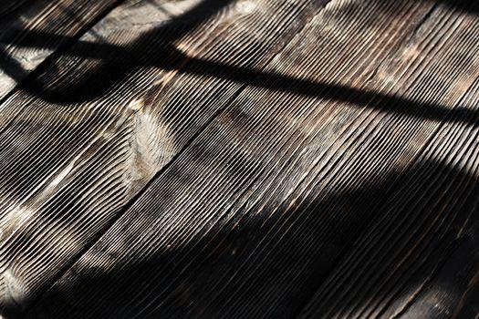 Hardwood floor with shadows
