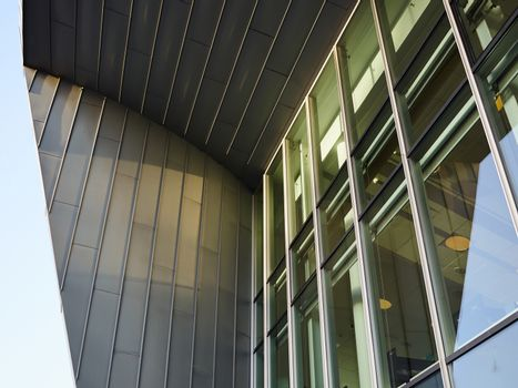 Modern office building window glass abstract