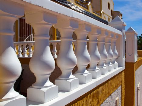 Details of traditional Spanish style house real estate Spain