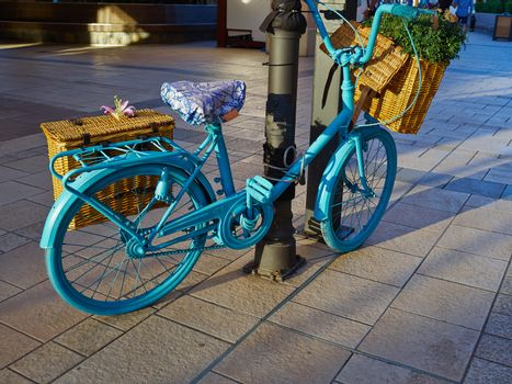 Vintage Classical  Blue Bicycle