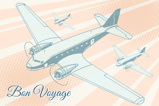 Bon voyage aviation background
