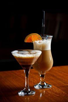 Irish coffee and coffee cocktail