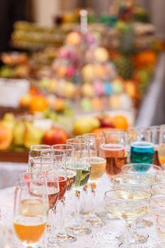 Various alcoholic freshness cocktails