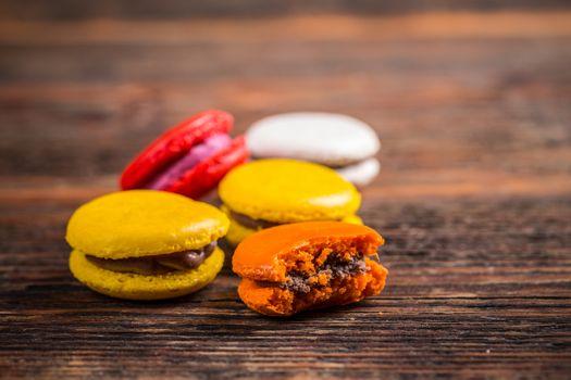 Popular French dessert macarons