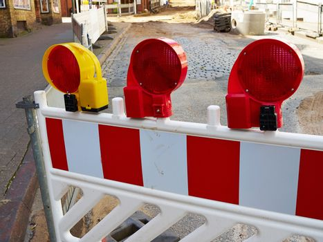 Construction road work side warning light lamps