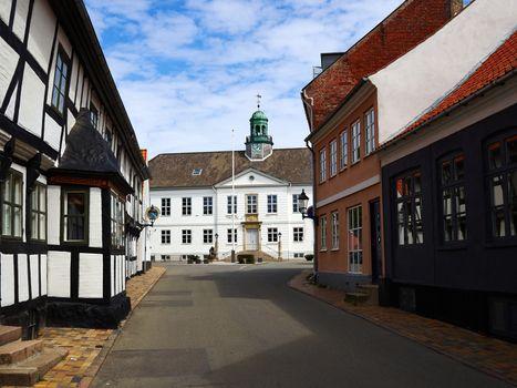 Center of the city of Bogense Funen Denmark