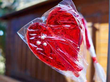 Heart shaped lolly pop made for lovers