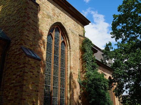 Famous St. Mary church in Flensburg Germany