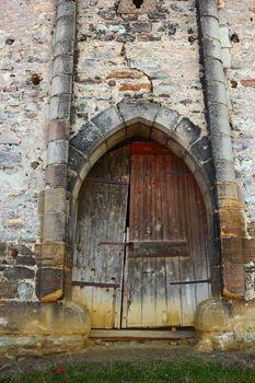 entrance of old abandoned castle