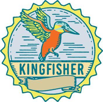 Kingfisher Side Rosette Retro