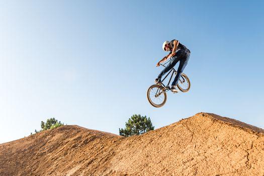 BMX Bike Stunt look back