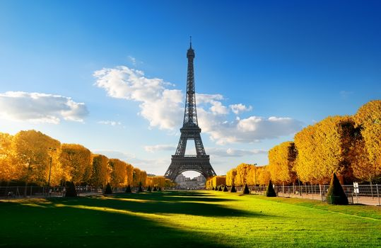 Spring at Champs de Mars in autumn