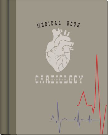 Medical book on cardiology