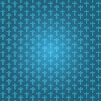 background dark blue color halloween with crucifix pattern texture, vector illustration