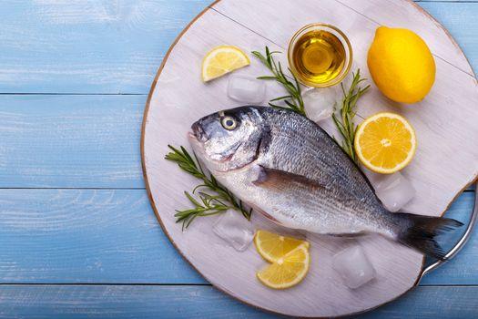 raw sea bream fish