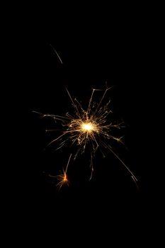 A burning sparkler