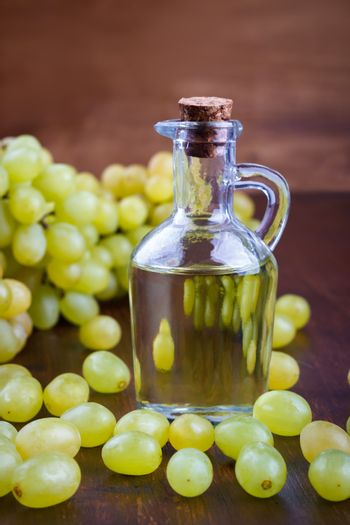 bottle with grape seed oil