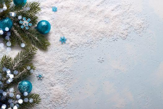Blue Christmas decorations