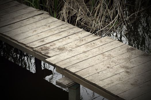 abstract view of a footbridge