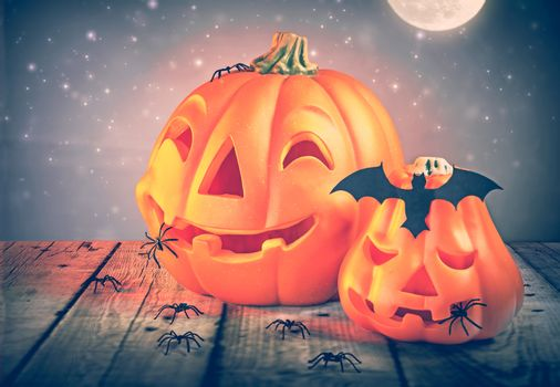 Halloowen pumpkins decor