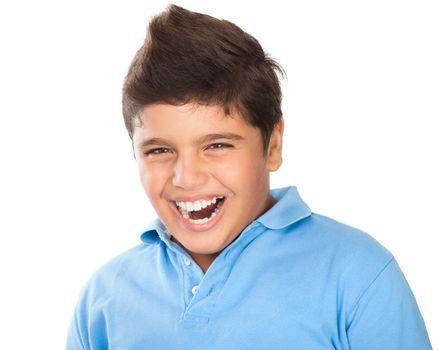 Happy teen boy portrait