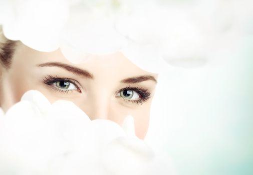 Beautiful women's eyes