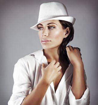 Stylish woman portrait