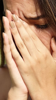 Tearful Hispanic Female Teen