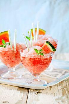 Bowls Of Refreshing Watermelon Granita