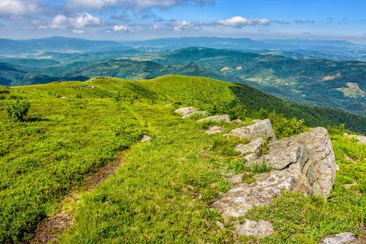boulders on the Carpathian hillside