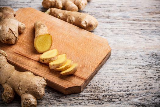 ginger root sliced