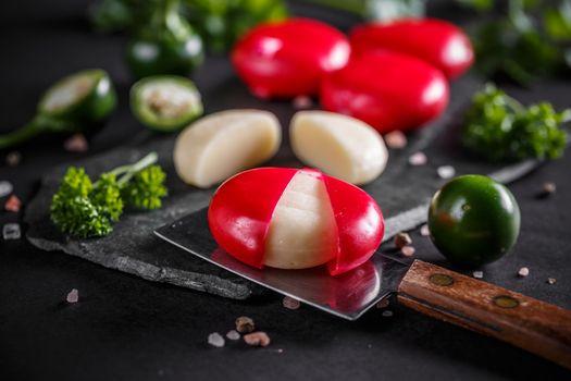 Mini cheese in red wax