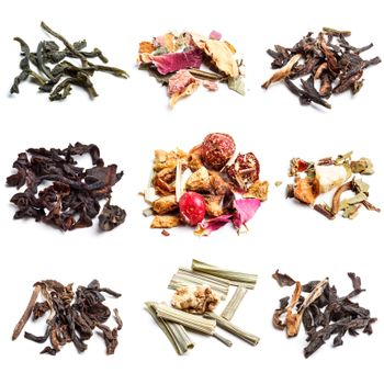 Collection of dry tea