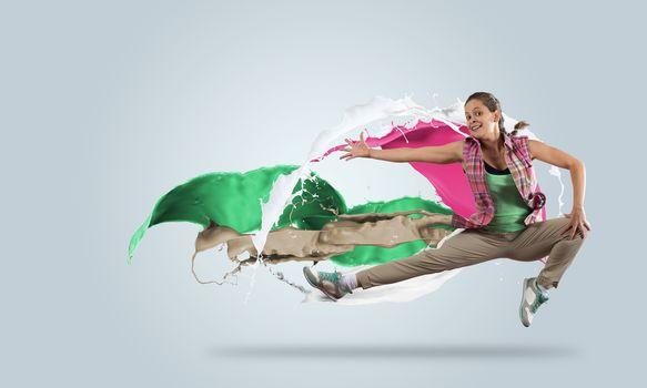 Energetic dancer