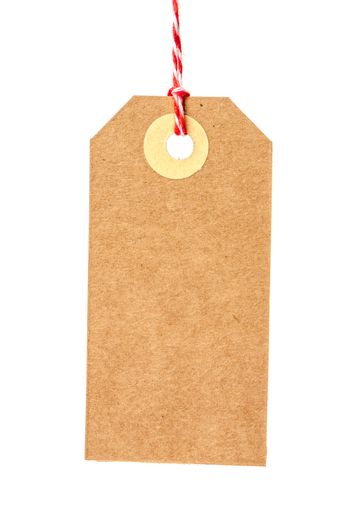 Recycled paper tag
