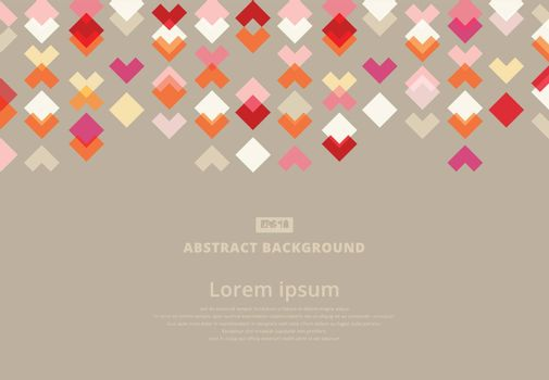 Red modern square and arrow geometrical abstract background, Vector illustration