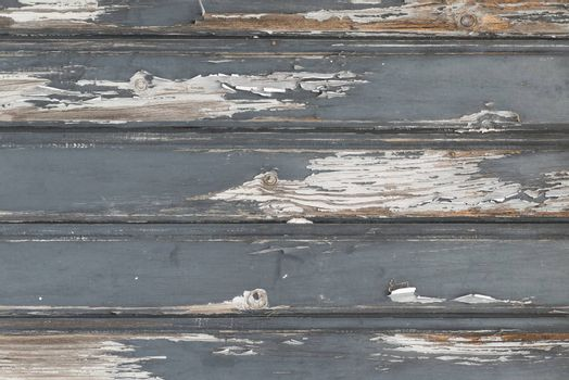 Horizontal weathered gray planks as background picture