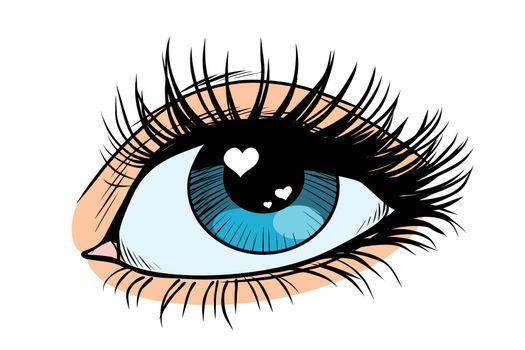 Heart glare in the eye