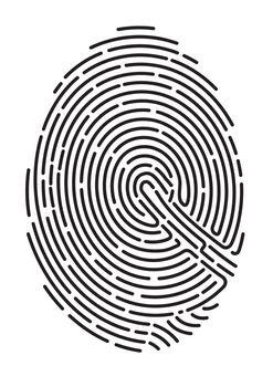 fingerprint. Secure identification