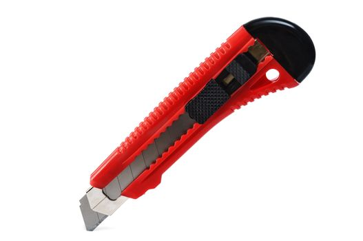 cutter with red handle isolated on white background