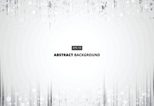 Abstract black and gray vertical lines pattren with sparkle background copy space, Vector illustration