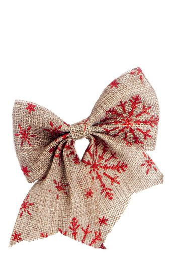 a Christmas decoration on a white background