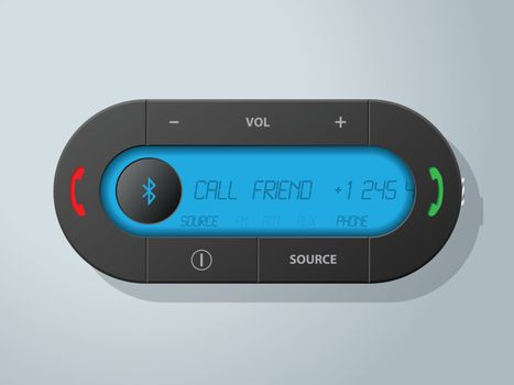 Car bluetooth receiver with blue lcd