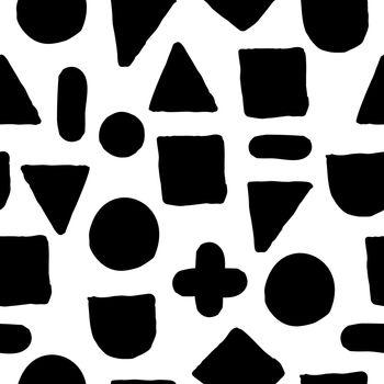Simple stylish seamless hand-made pattern