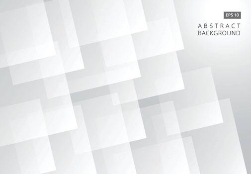 Abstract white square futuristic overlap layer background. vector illustration